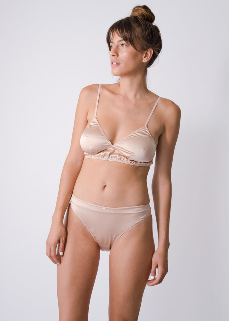 Vina Bralette - Blush - Stretch Silk