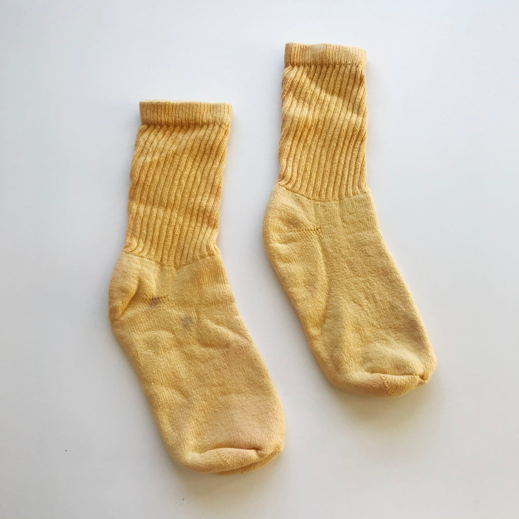Natural Dye Crew Socks - Turmeric