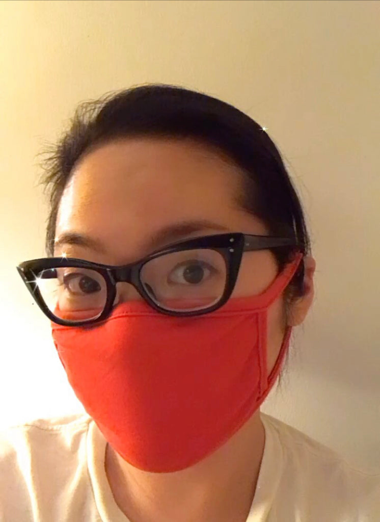 Double Layer Loop Mask - Scarlet Jersey