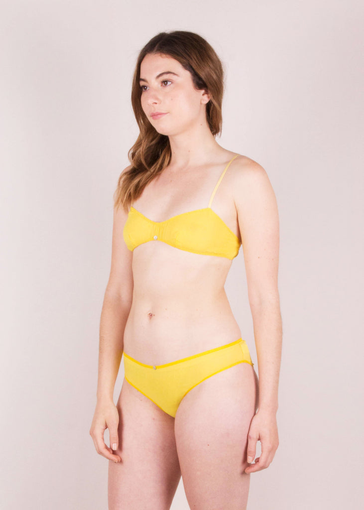 SAMPLE SALE: Flora Bikini Brief- Yuzu-botanica workshop