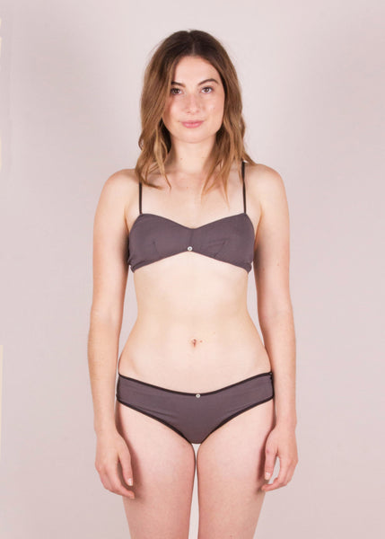 Flora Bikini Brief- Smoke