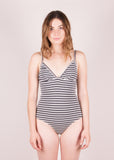 Hina Bodysuit- Charcoal Stripe