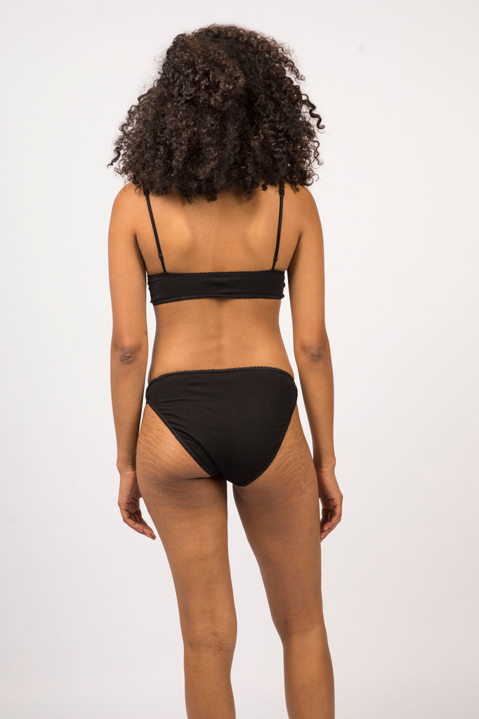 Malia Bralette - Black - Organic Cotton