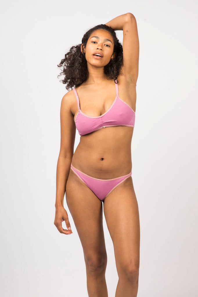 Mona Brief- Rose - Organic Cotton