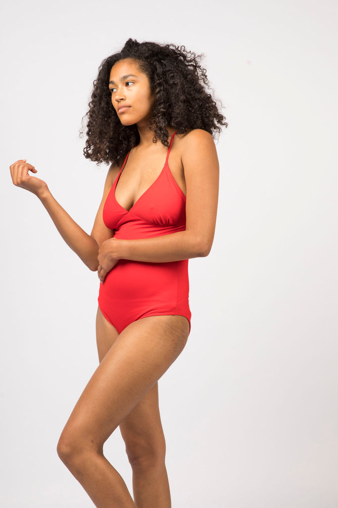 Sorana Swimsuit- Scarlet - Recycled Nylon