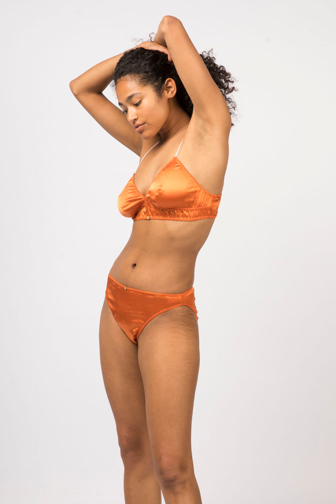 Vina Bralette - Sunset - Stretch Silk