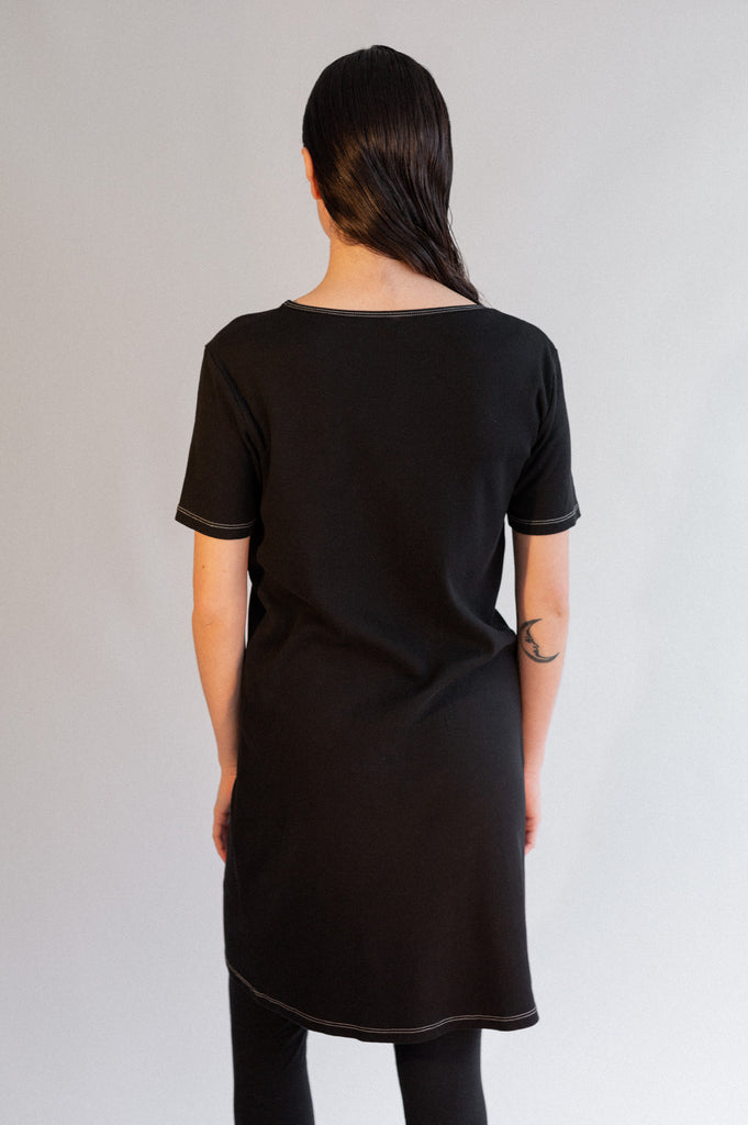 Kaja Rib Dress - Organic Cotton - Black