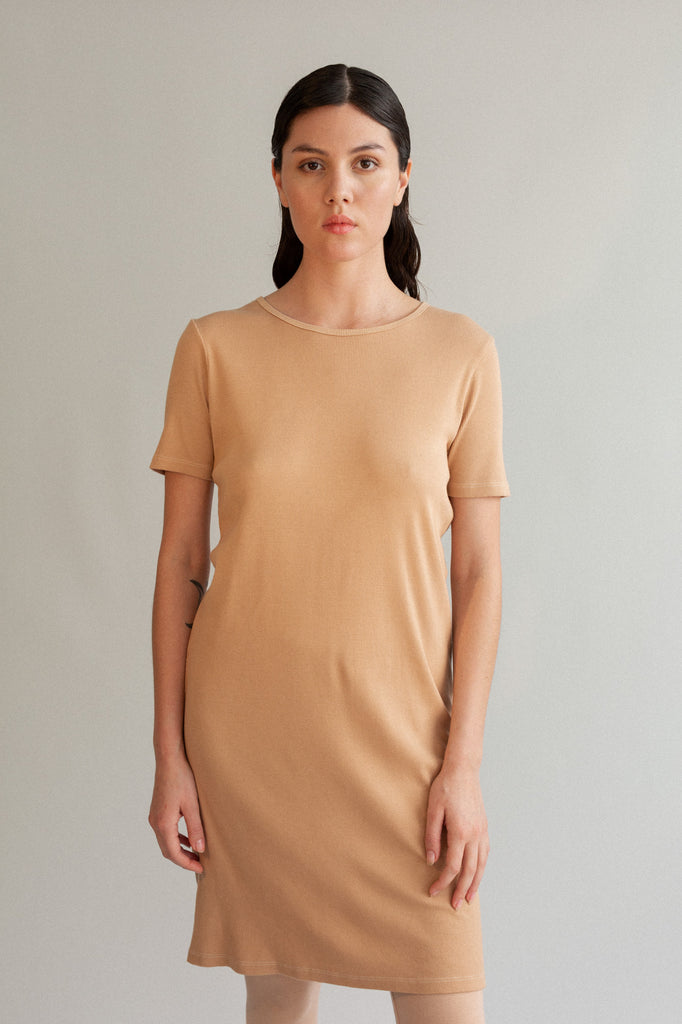 Kaja Rib Dress - Organic Cotton - Petal