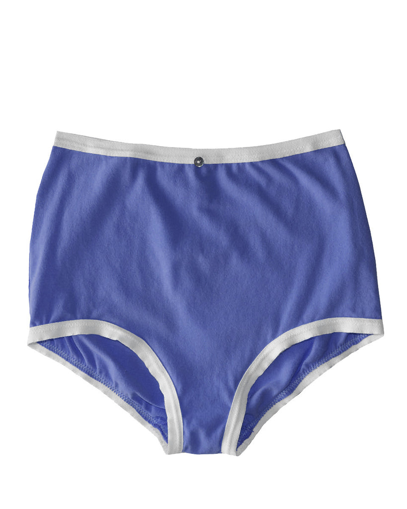 Astra Hi-Waist Brief- Iris - Organic Cotton