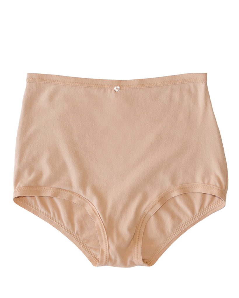 Astra Hi-Waist Brief- Petal- Organic Cotton