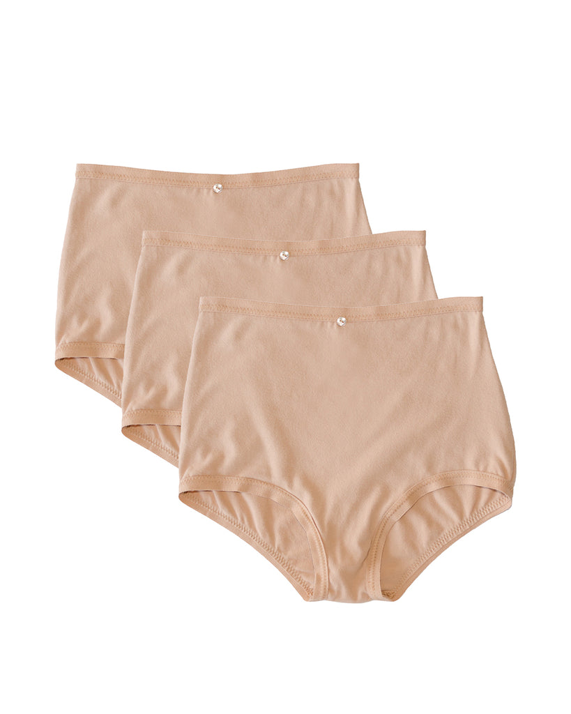 Astra Hi-Waist Brief, Multi Pack of 3- Petal- Organic Cotton