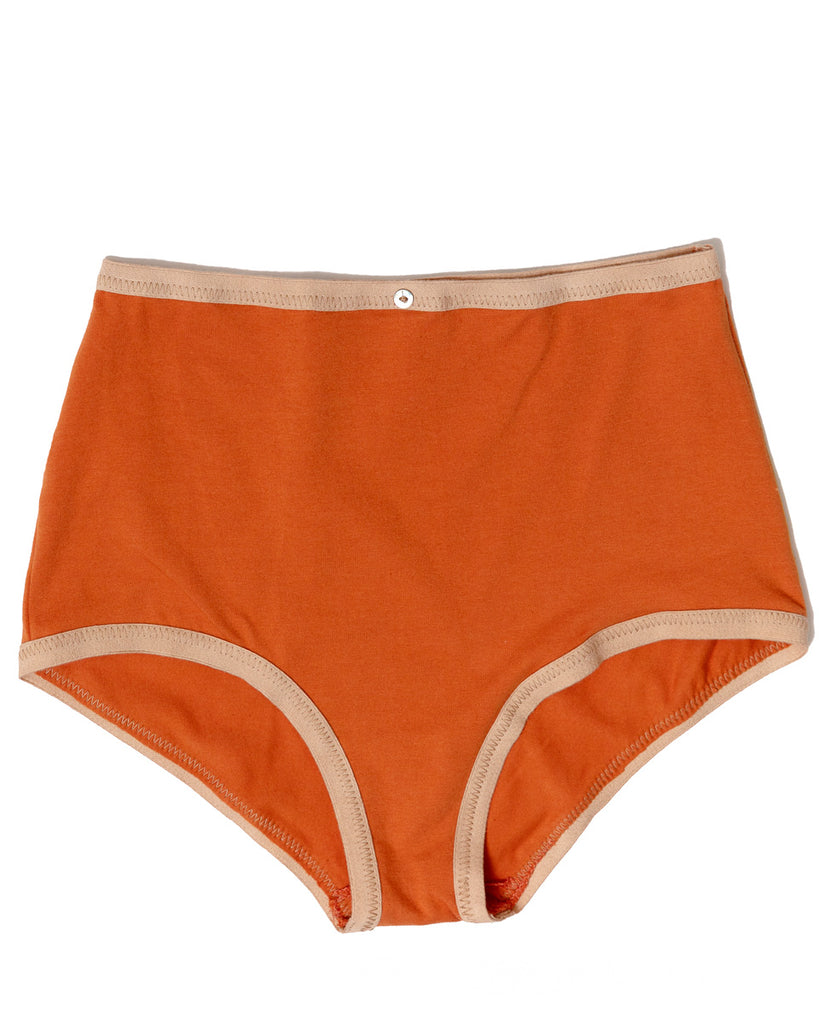 Astra Hi-Waist Brief- Sunset- Organic Cotton
