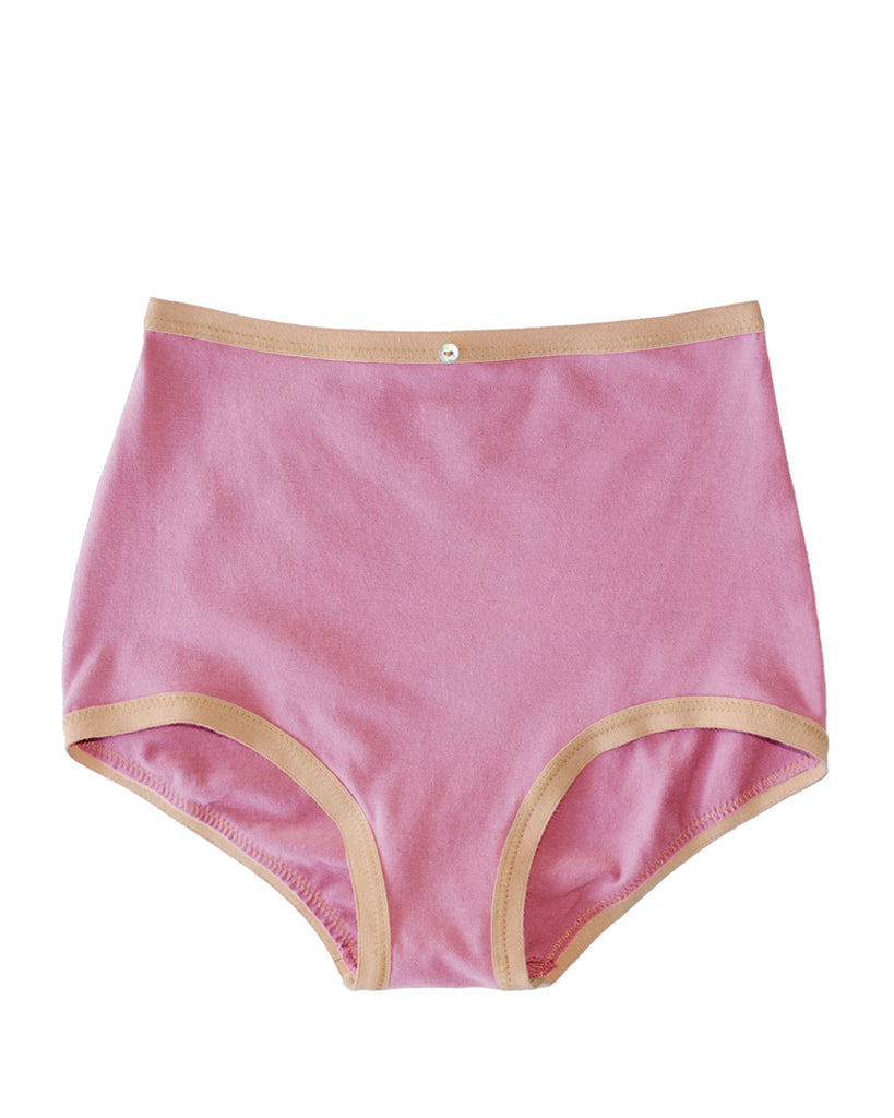 Astra Hi-Waist Brief- Rose