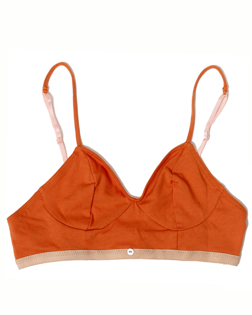Aya Bralette - Sunset - Organic Cotton