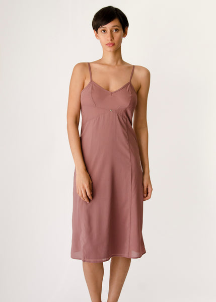 Vetiver Slip Dress- Viola