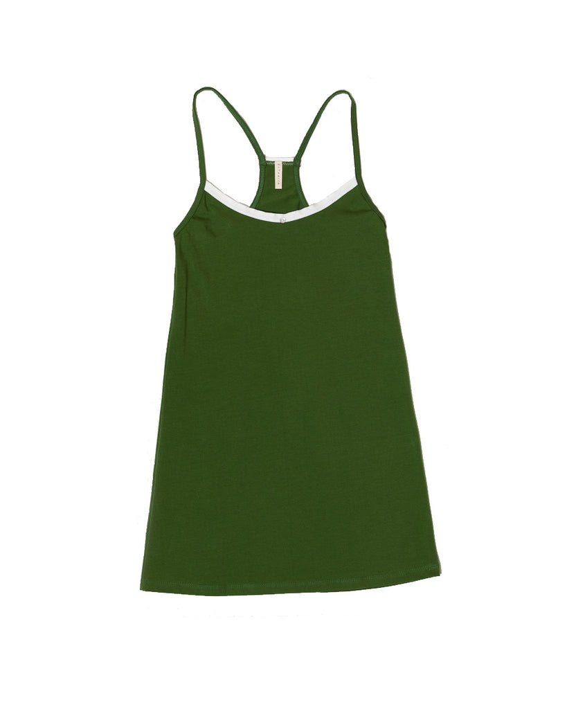 Daisy Cami Dress - Basil - Organic Cotton