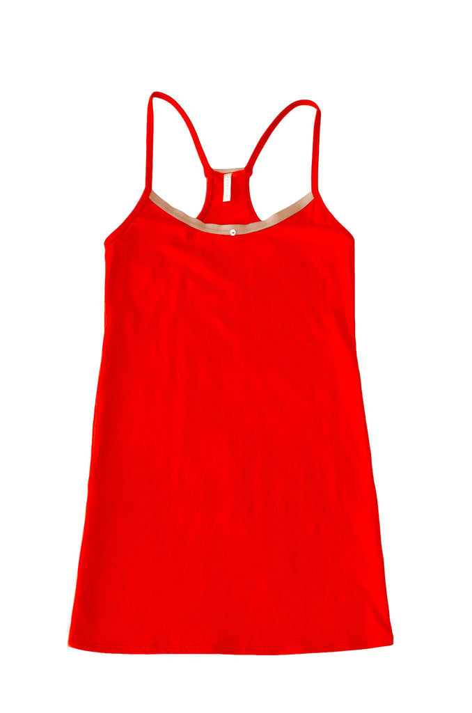 Daisy Cami Dress - Scarlet - Organic Cotton