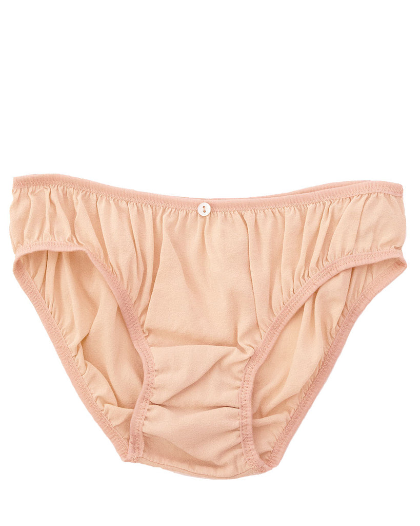Flora Bikini Brief- Pink- Stretch Silk