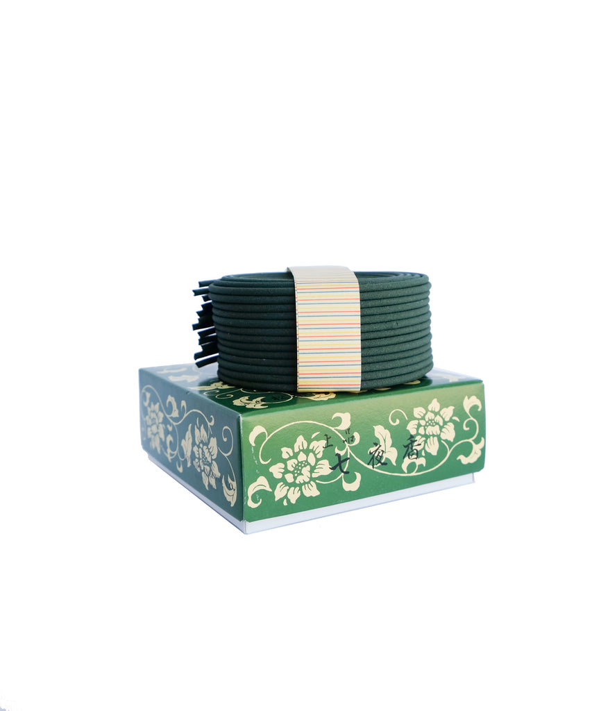 Natural Incense Coil, Johin Permanence by Shoyeido