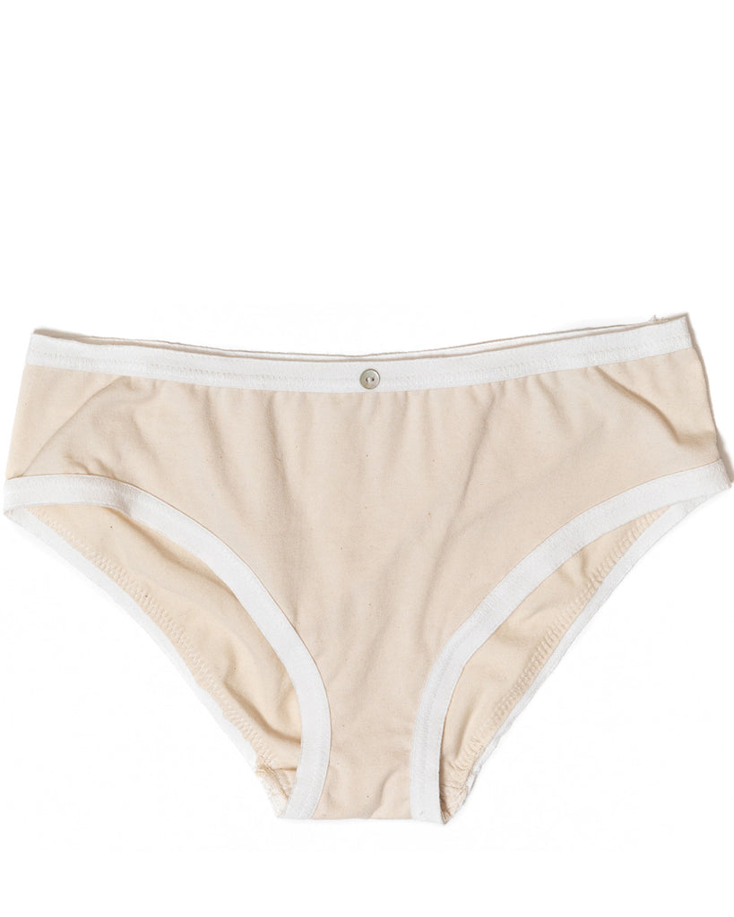 Lila Bikini Brief- Natural- Organic Cotton