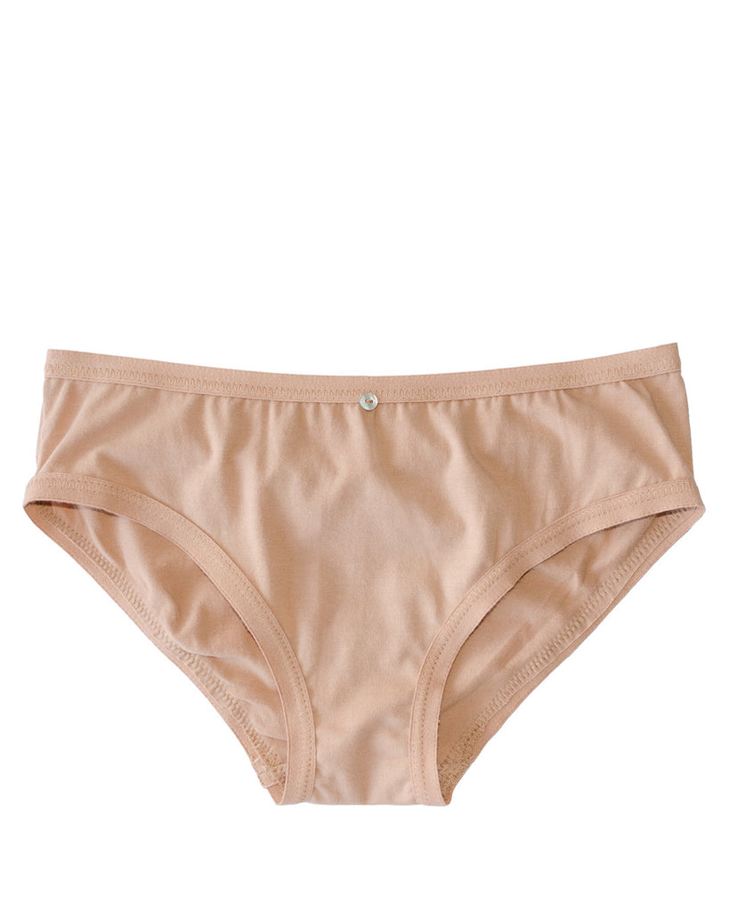 Lila Bikini Brief- Petal- Organic Cotton
