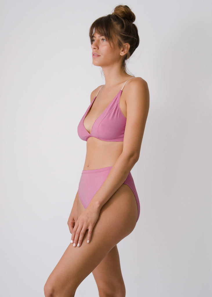 Mari Bralette - Rose - Organic Cotton