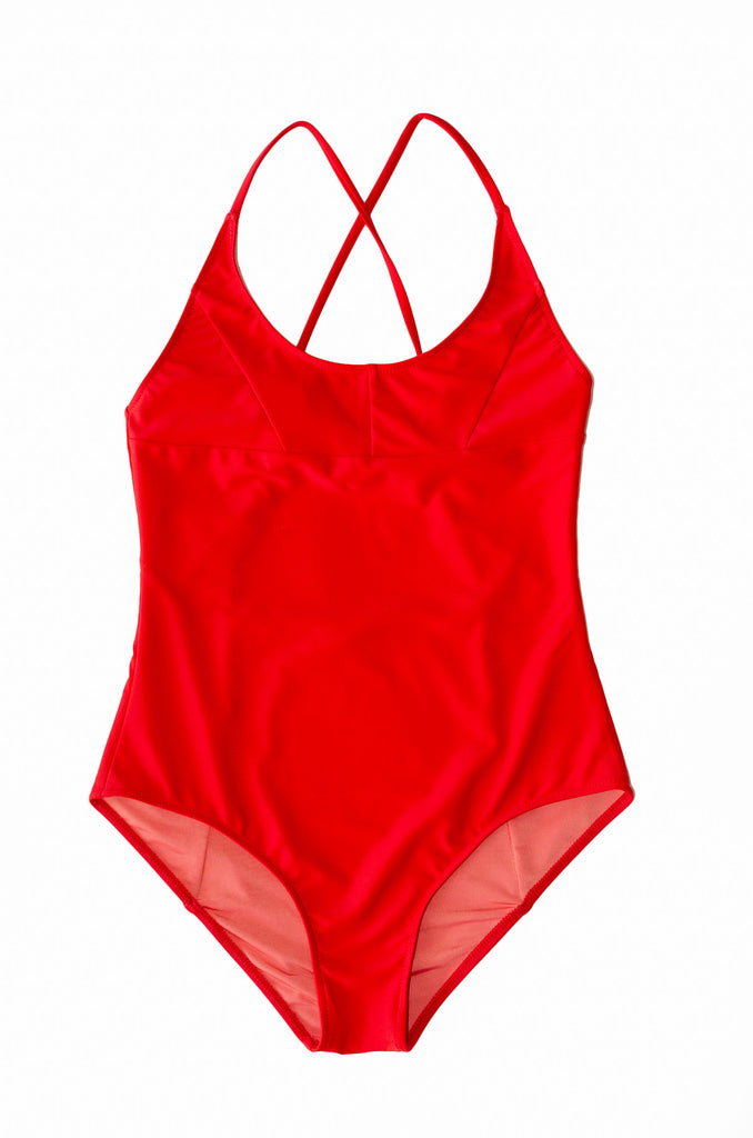 Nami Swimsuit- Scarlet - Recycled Nylon