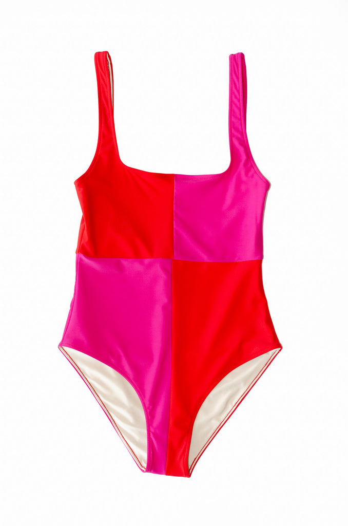Rika Swimsuit- Scarlet/Cosmos- Recycled Nylon