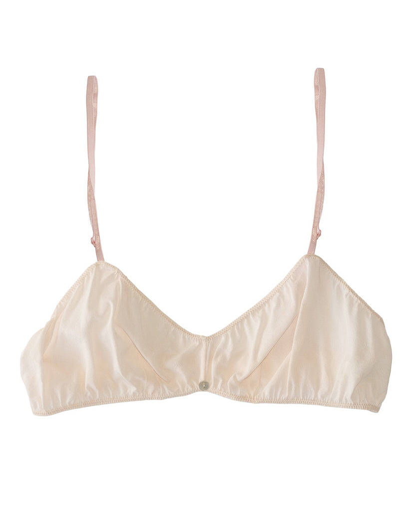Romy Bralette- Quartz- Stretch Silk
