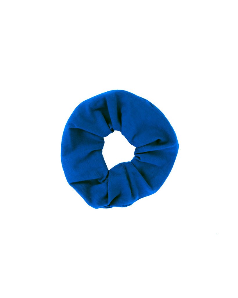 Zero Waste Scrunchie- Organic Cotton- Cobalt