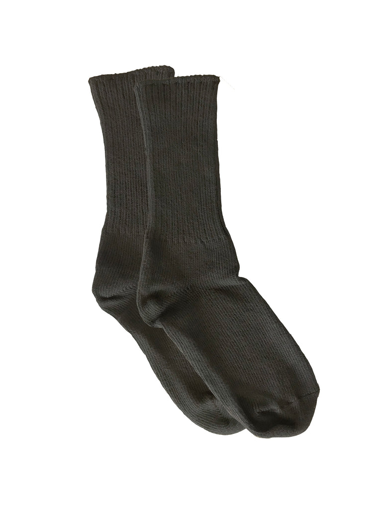 Organic Cotton Crew Socks, 1 Pair, Black