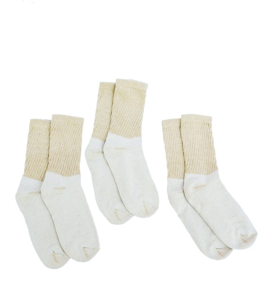 Organic Cotton Crew Socks, 3 Pairs, Green