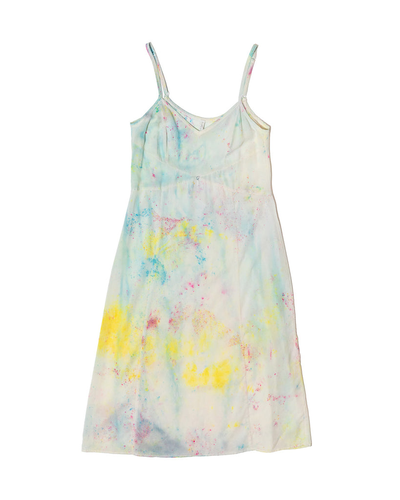Vetiver Slip Dress- Multi- Stretch Silk