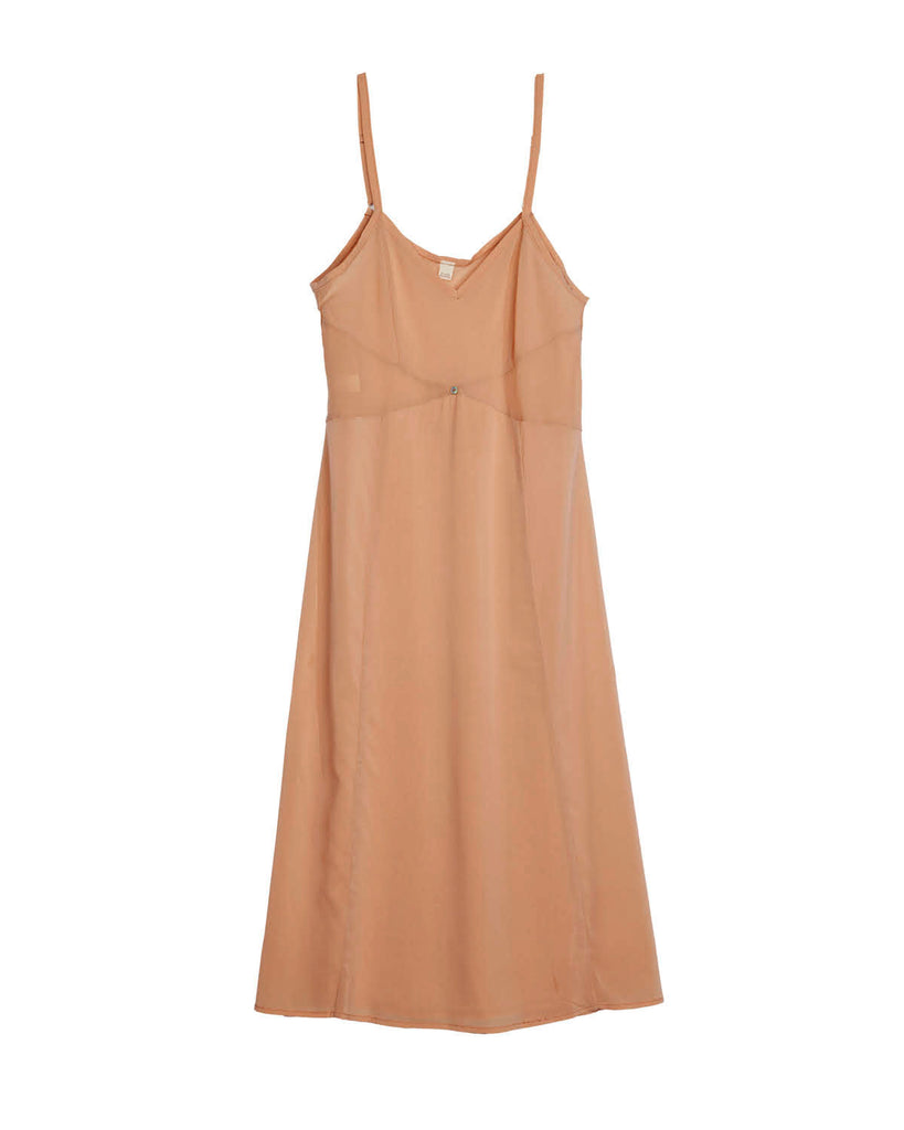 Vetiver Slip Dress- Pink- Stretch Silk