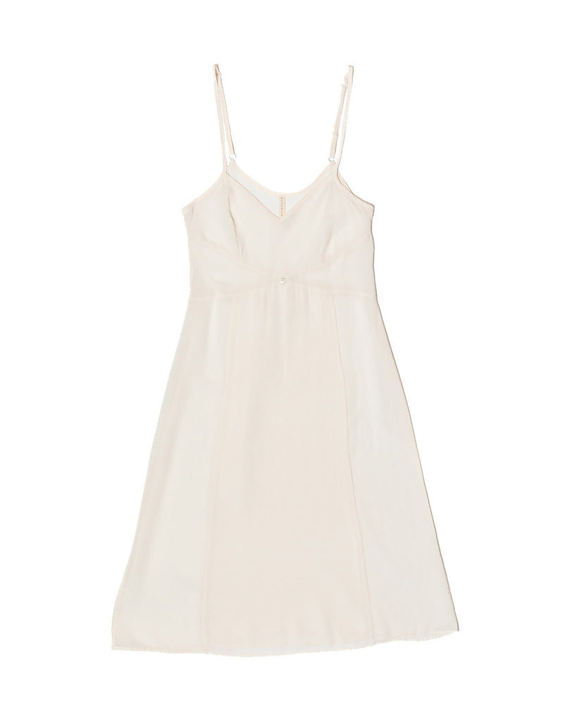 Vetiver Slip Dress- White- Stretch Silk