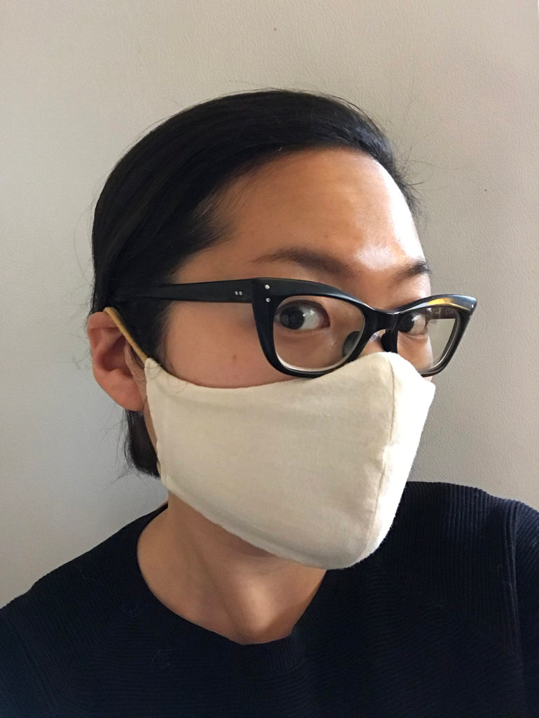 Zero Waste Tie Mask - Natural/Basil