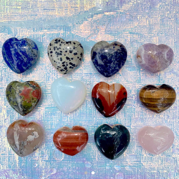 Mini Assorted Crystal Hearts - Gaia Luna1