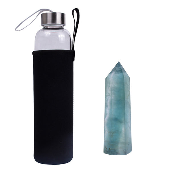 Green Fluorite Crystal Elixir Bottle - Gaia Luna1
