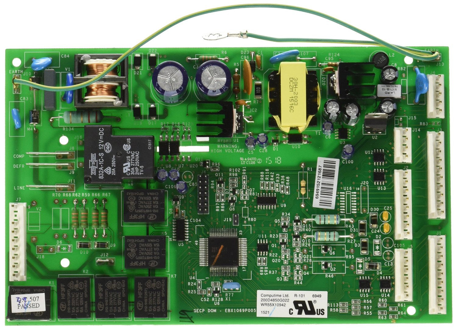 Main Control Board for General Electric GTS22WCMARBB Refrigerator