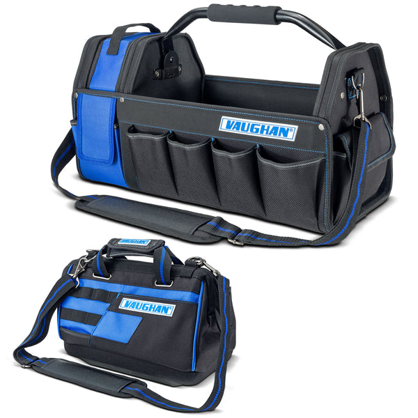 Vaughan 2 Piece Tool Bag Set 20 in. Tool Tote and 13 in. Wide Mouth Bag - 240155