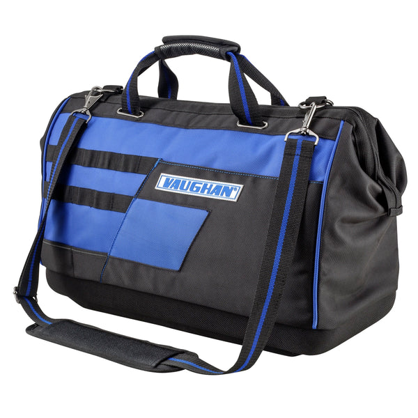 Vaughan 20-in. Heavy Duty Wide Mouth Tool Bag 1680D Polyester 12 Pockets- 240158