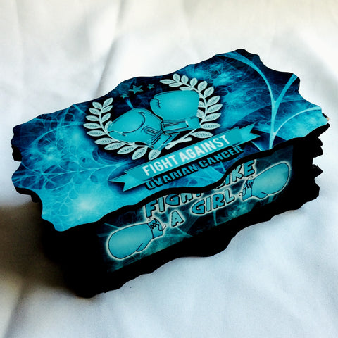 Ovarian Cancer Awareness Handmade Jewelry Storage Box