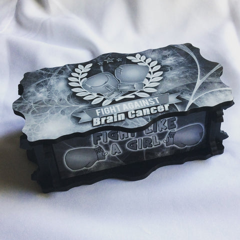 Brain Cancer Awareness Handmade Jewelry Storage Box