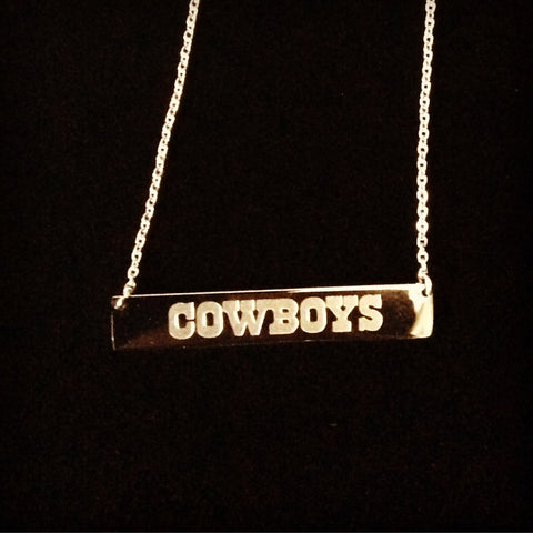 Dallas Cowboys Bar Necklace