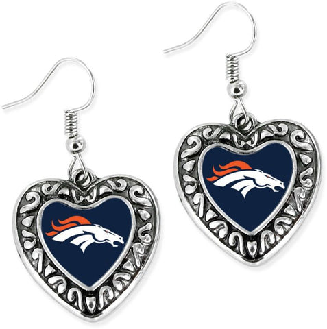 Broncos Dangle Earrings