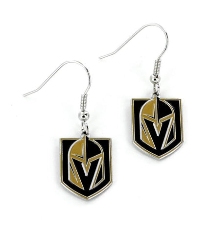 Golden Knights Logo Dangle Earrings