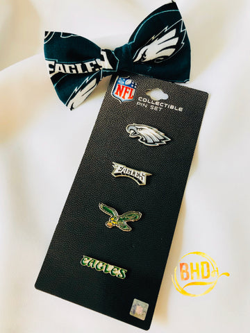 Eagles Lapel|Hat Pin Bow Tie Set