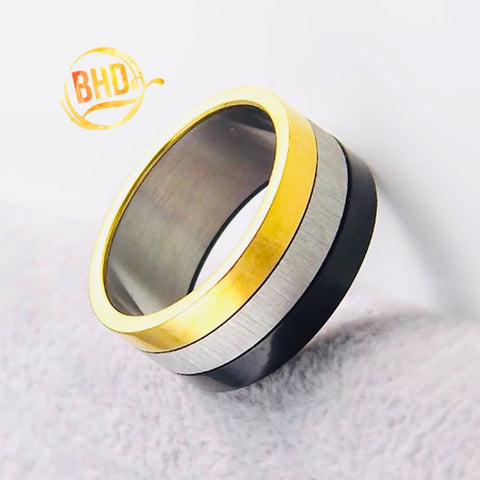 Tri-Color Band Ring