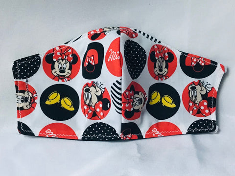 Mickey and Minnie Mask with Filter Pocket
