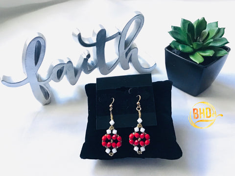 Red Swarovski Crystals Earrings